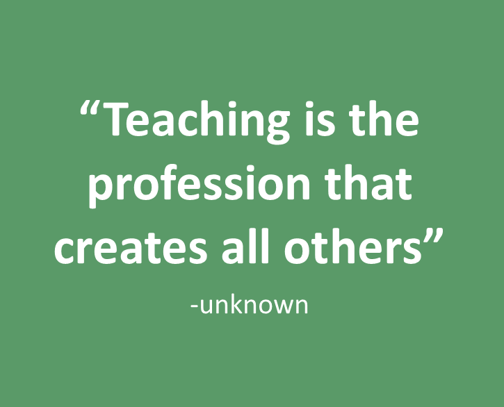 'Teaching is the profession that creates all others' #edchat #vicpln #edfest15 #PSTedfest #teaching http://t.co/mjNca92wWg