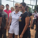 RT @MallikaCNN: @MirzaSania shows @Martina around her tennis academy in her home city of Hyderabad http://t.co/JLchwSMhFi