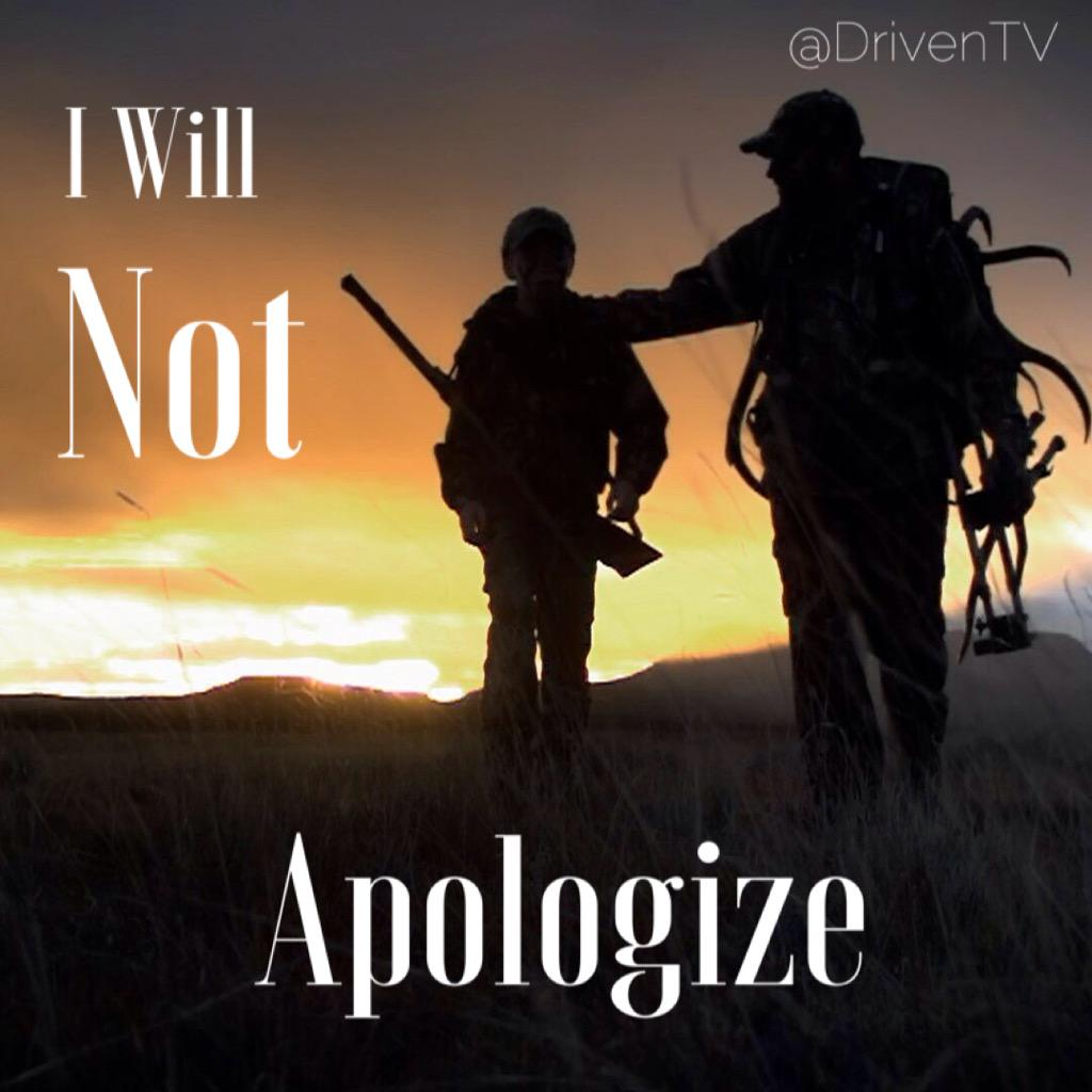RETWEET if you are proud to be a hunter! #NeverApologize http://t.co/nB1C9dadiT