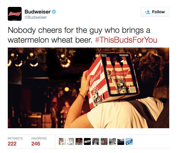 I'll be on @KFOGRadio at 8:20 am PST talking about the 21A/Budweiser tweet. Listen live http://t.co/NHL4Rx2e5N http://t.co/xtMdsVJdOh
