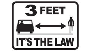 Give 3 feet - It's the Law! http://t.co/QcN3onNvdL #ShareTheRoad ^TL http://t.co/t1us8suBjB