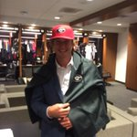 Just met our new draft pick @C_fulmer15 ...and promptly dressed him in the right colors. #GoDawgs http://t.co/vC9a0mjmIs