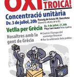 Hoy por Grecia, mañana por tus hijos/as! #StopAustericidio #OXI #JoVaigAmbGrecia http://t.co/t0z0DnmcNh