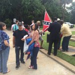 People gather at Confederate memorial at SC Statehouse to take pics of flag before expected removal. @wyffnews4 http://t.co/9MsWpZMWVF