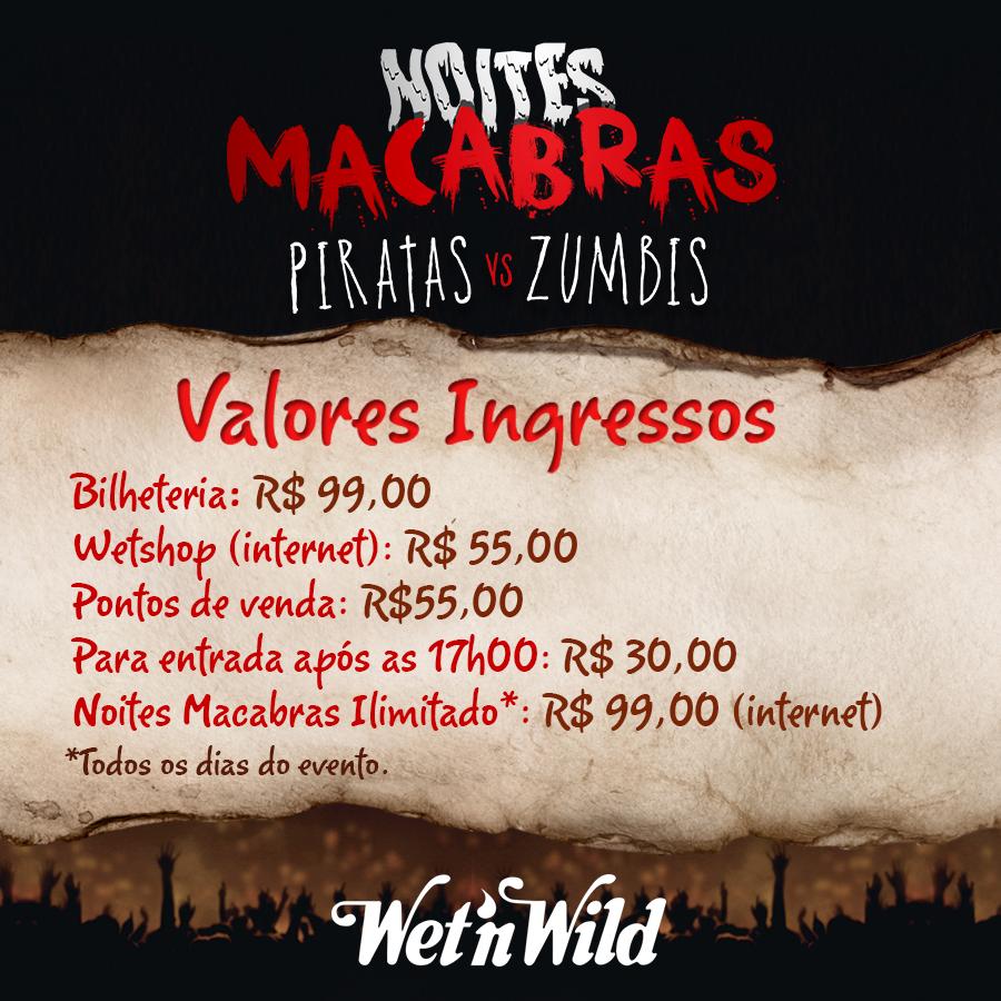 Os valores dos ingressos das Noites Macabras já estão disponíveis! Em breve será ativado na Wetshop. #NoitesMacabras http://t.co/IlrCaH5wlf