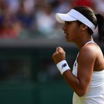 Heather Watson breaks again & will serve for the second set #Wimbledon Dont miss it: @BBCTwo http://t.co/W8uTBR5ksU http://t.co/FYFWXQf9s8
