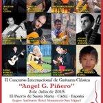 #Concurso de #Guitarra Ángel Piñero en #ElPuerto en @HotelMonasterio Concierto del ganador a 20h entrada libre http://t.co/je8GbPMEDh
