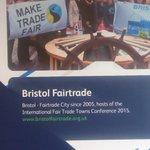No better welcome possible #Bristol Airport 4 delegates Intl. #FairTrade Towns Conf @FTBristol Sat & Sun @FairtradeUK http://t.co/I7NH3MrCan