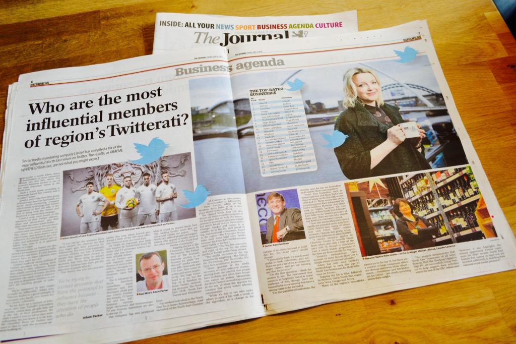 Ooh nice mention and photo of us in today's @TheJournalNews for being one of the region's @lissted 'Twitterati' http://t.co/Vt3kIHZpWW