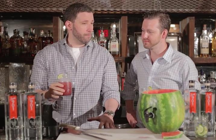 See the making of our delicious new Watermelon Margarita made with @Sauza901 #Sauza901 Click-> http://t.co/9kjwpqrHQS http://t.co/e7Bi3HhcTj