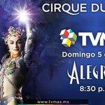 Vive la #Alegría del @Cirque en #TVMÁS Domingo 8:30 pm   Canal HD 26 o en por internet en http://t.co/NUAV6x9QVh http://t.co/UU1DapV0od
