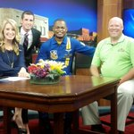 The @BlueAngels stopped by @WEAU13News ahead of the @CVAirShow this weekend! More details on http://t.co/XUje815xPN http://t.co/umao3HlEMZ