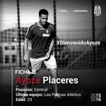 El central Ayoze Placeres, primer fichaje de la 2015/16. Tiene 23 años y procede de Las Palmas At.#BienvenidoAyoze http://t.co/ANOBP78Jgf