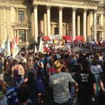 Im guessing about 3,000 people here outside Bourse in central #Brussels for #OXI rally. #Greece http://t.co/4qEdE73WbF