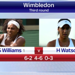 Something very special is happening at #Wimbledon. Heather Watson leads Serena Williams in the third set #SSNHQ http://t.co/iZd8GBW7wi