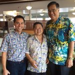 At Kennys Restsurant with owner and long time friend John Fujieki, area Councilman Joey Manahan & an ardent rail fan.