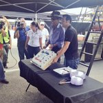 Theres nothing like celebrating your birthday at @DISupdates! The King & @SamHornish share a ???? http://t.co/l2nCjjQfKm