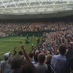 Centre Court rises to applaud an epic. Watson falls just short of one of biggest shocks in Wimbledon history http://t.co/OoopSMEhQv