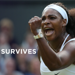 The Serena Slam is still alive. The world No.1 survives an epic against Heather Watson 6-2, 4-6, 7-5 #Wimbledon http://t.co/zq9XNeFQCf