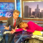 @ABC7Leslie is already on #VacationMode on the @ABC7 set w/ @ABC7Phillip #Sleepy & #SafeAndSane #4thofJuly http://t.co/iPcXzW2T4M
