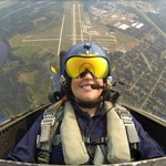 What a picture!! We know @TheWxMon from @WEAU13News will remember this ride with the @BlueAngels forever! #CVAS15 http://t.co/CY7ZYdTQAC
