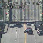 Ballard Bridge remains closed to traffic due to a malfunction. Use the Aurora Bridge or Fremont Bridge as alt routes. http://t.co/coe0x20SpQ
