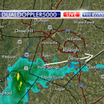 Looks dry for Wake Forest fireworks. Garner, its going to be close. Light rain headed your way... #wral http://t.co/TTVZjxzNTf