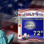 FIREWORKS FORECAST: Weather looks great for fireworks Saturday night across southern Minnesota! #Mankato #4thofJuly http://t.co/snbSVbQnpS