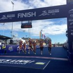 Well done girls! The last of the 4km dash kids crossing the line #GCAM15 http://t.co/8G3qTUdmwD http://t.co/AE5EganMwk