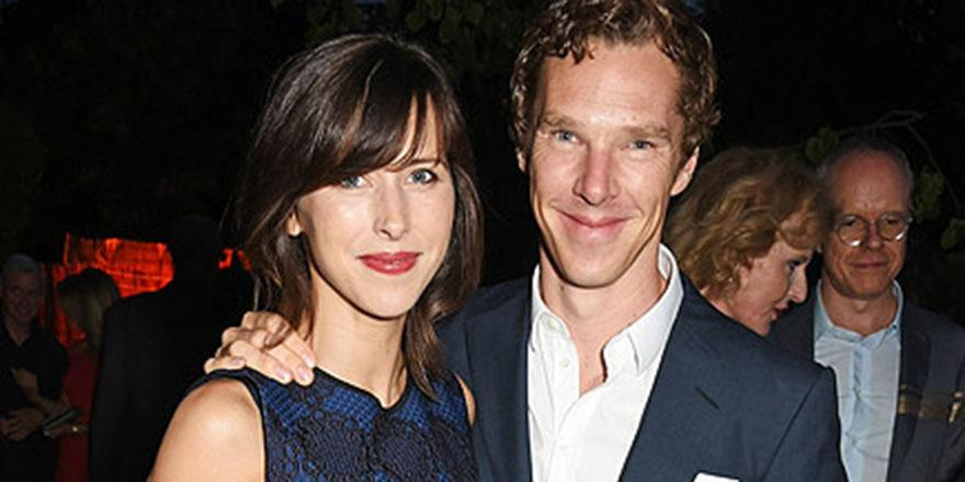 Benedict Cumberbatch and Sophie Hunter enjoy a parents' night out