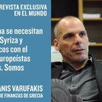 Una entrevista a @yanisvaroufakis de @IreneHVelasco. El sábado, en @elmundoes http://t.co/0ttLKcQBDE