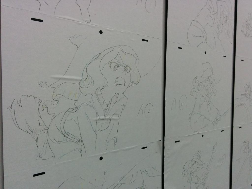 Best part about #AnimeExpo2015: Little Witch Academia genga display. http://t.co/ysK7vOlWqt
