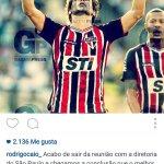 Rodrigo Caio anuncia que se queda en Sao Paulo.Uy! Si paso la revision y el Atleti se lo habia birlado al VCF...????Ayy http://t.co/HLqgObDQhm