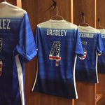 #USMNT will don stars and stripes numbers for tonights #USAvGUA. Two hours til kickoff. http://t.co/mbnc1hvXZz