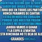 """""""@SantanderRio: ¡Nunca dejemos de cantar y alentar con el corazón! #VamosArgentina #GrandesHinchas http://t.co/ubhBdofkiW"""""""