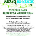 Its going to be another beautiful day tomorrow. Come along to the Victoria Park Bioblitz and Wildlife Day. http://t.co/MAA93Eeji5