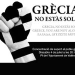Grècia, NO estàs sola #Greece CONCENTRACION @AuditoriaVLC @CGTPV @radioklara  http://t.co/n5noUpTseH http://t.co/uFQ98hAxkm
