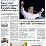 El no a la independencia sube en Cataluña; Grecia se queda sin dinero, destituida Gala León... http://t.co/RE5I0YzB25 http://t.co/kitVC94zBc