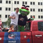 Another awesome #Boom parade in the books for @LeoWelsh and I! Stay dry, stay safe, see u at tomorrows parades #Cbj http://t.co/BYrc4c3aUJ