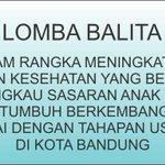 Lomba Balita Sehat bertempat di Balai kota 4/7/2015 jam 8.00-selsai @ata_lia @siti_odedMD @ridwankamil http://t.co/IkCY68bBrE