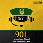 لا تتردد بالتواصل مع #شرطة_دبي عبر: 901 للاستفسارات العامة والحالات غير الطارئة. #أمنكم_سعادتنا #شرطة #دبي #خدمات http://t.co/1LnMcZOmao
