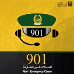 #901 Answers ALL your inquiries and Non-Emergency cases. #service #UAE #Dubai #Police http://t.co/H4EeYFQp1r