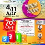 Malam ini!!! #MidnightShopping @C_CityMall Discount up to 70% & berhadiah gadget, house hold, & paket Umrah! Serbuuu! http://t.co/Drn9SzafSD