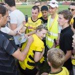 Thomas Tuchel beim Test in Rhede // Thomas Tuchel with the fans in Rhede #rhedebvb http://t.co/Nn6ae0n6YY
