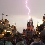 Lightning strikes over Cinderella Castle at Walt Disney Worlds Magic Kingdom http://t.co/Le0lvuM5YP http://t.co/tHujPOIrX0