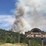 Smoke coming off the Joe Rich fire much less now than 3 hrs ago. #CBC #Kelowna http://t.co/TTR6ruFmcj