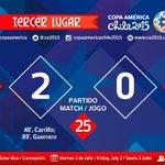 Via @CA2015 Resultados Vie 03/07 TERCER LUGAR COPA AMERICA 2015: http://t.co/5saxcEXupW