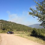 Smoke from the #HuckleberryFire has subsided from our view on #BCHwy33 near Huckleberry Rd http://t.co/Dj3AcyuZtH