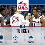 Less than 15 minutes until tipoff. Follow @KUHoops for updates or watch live on ESPNU. #kuinkorea #kubball http://t.co/sBBDPRBl88