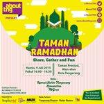 #TamanRamadhan didukung oleh @tangcity, @rotibakar88, dan @raxzelstore sebagai sponsor :) http://t.co/M5VAKAA3es